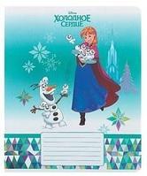 Тетрадь 12 листов в линейку «Холодное сердце Disney», обложка мелованный картон, фольга, МИКС