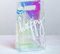 Пакет из голографического пластика Happy, 13 ? 23 ? 6 см