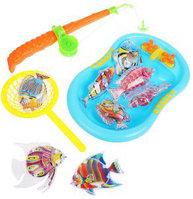 Игровой набор Рыбалка магн. Удочка+5 фигурок + 2 аксесс., пакет