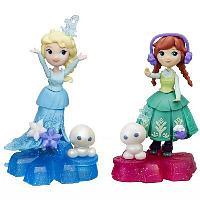 Disney Princess. ХОЛОДНОЕ СЕРДЦЕ. Маленькая кукла на движущейся платформе-снежинке