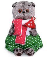 Кот Басик с мухомором 22 см мягкая игрушка