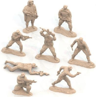 Солдатики Морские котики США (8 шт. в малом прозрачном боксе) 14х7х19 см.