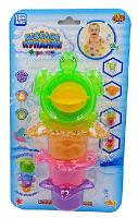 Веселое купание. Черепаха-мельница для ванной, в наборе с аксессуарами (4 предмета), на блистере