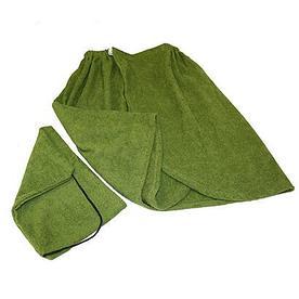 """Набор для бани (полотенце """"Килт"""", шапка), махровый"""
