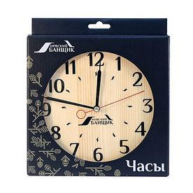 Деревянные часы для предбанника