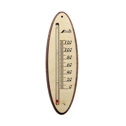 Жидкостный термометр для бани овальный