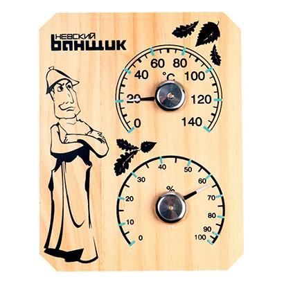 "Термометр-гигрометр для бани и сауны ""Банщик"""