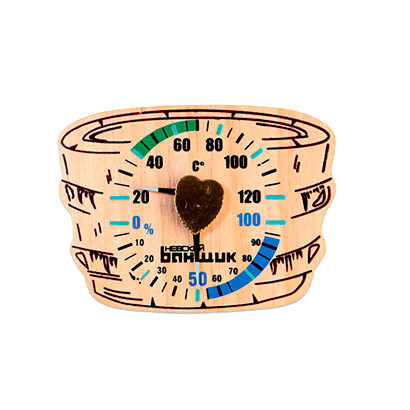 "Термометр-гигрометр для бани и сауны ""Шайка"""