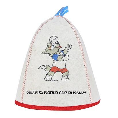 "Шапка банная ""ФИФА 2018 Забивака мяч на голове"""