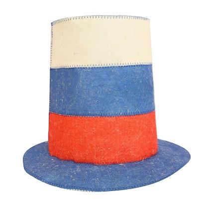 """Шапка банная """"Шляпа Триколор"""", войлок"""