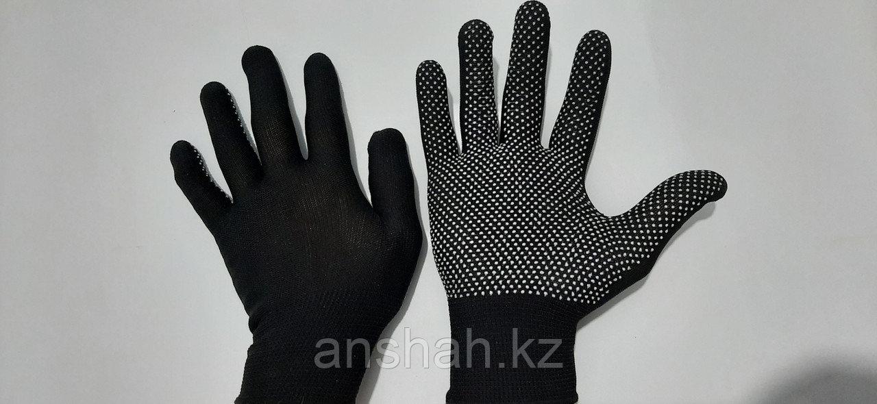 Перчатки с пупырышками черные (Корея)