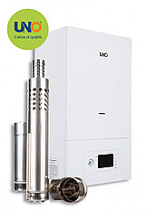 Газовый котел UNO PIRO 20 кВт с коаксиальным дымоходом  (200м²)