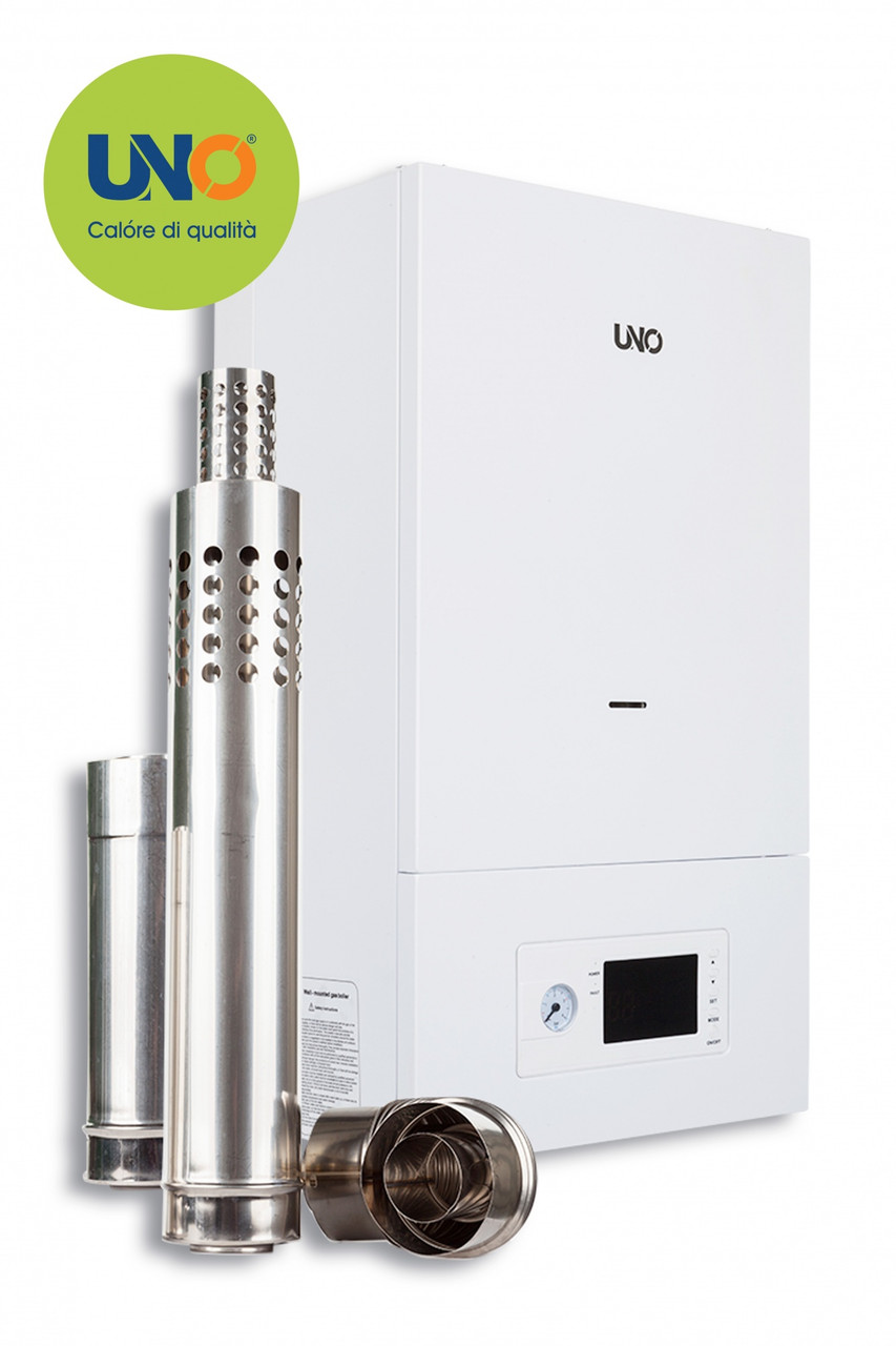 Газовый котел UNO PIRO 32 кВт с коаксиальным дымоходом  (300-320м²)