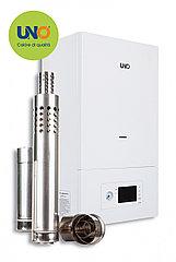 Газовый котел UNO PIRO 40 кВт с коаксиальным дымоходом  (380-400 м²)