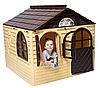 Детский домик игровой Doloni коричневый
