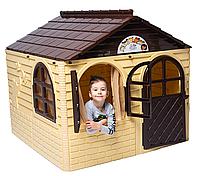 Детский домик игровой Doloni коричневый, фото 1