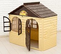 Детский игровой домик Doloni коричневый