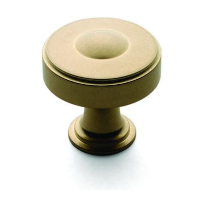 Ручка-кнопка, Brusso CK-203, D31.8*31.8мм, латунь, с винтом
