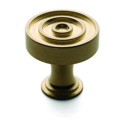 Ручка-кнопка, Brusso CK-202, D31.8*31.8мм, латунь, с винтом