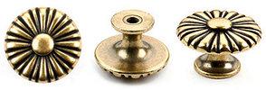 Ручка-кнопка, *Baroque* D30мм, золото Валенсия., винт,
