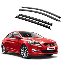 Ветровики дверей (дефлекторы окон) Hyundai Solaris/Accent седан (2011-2017)
