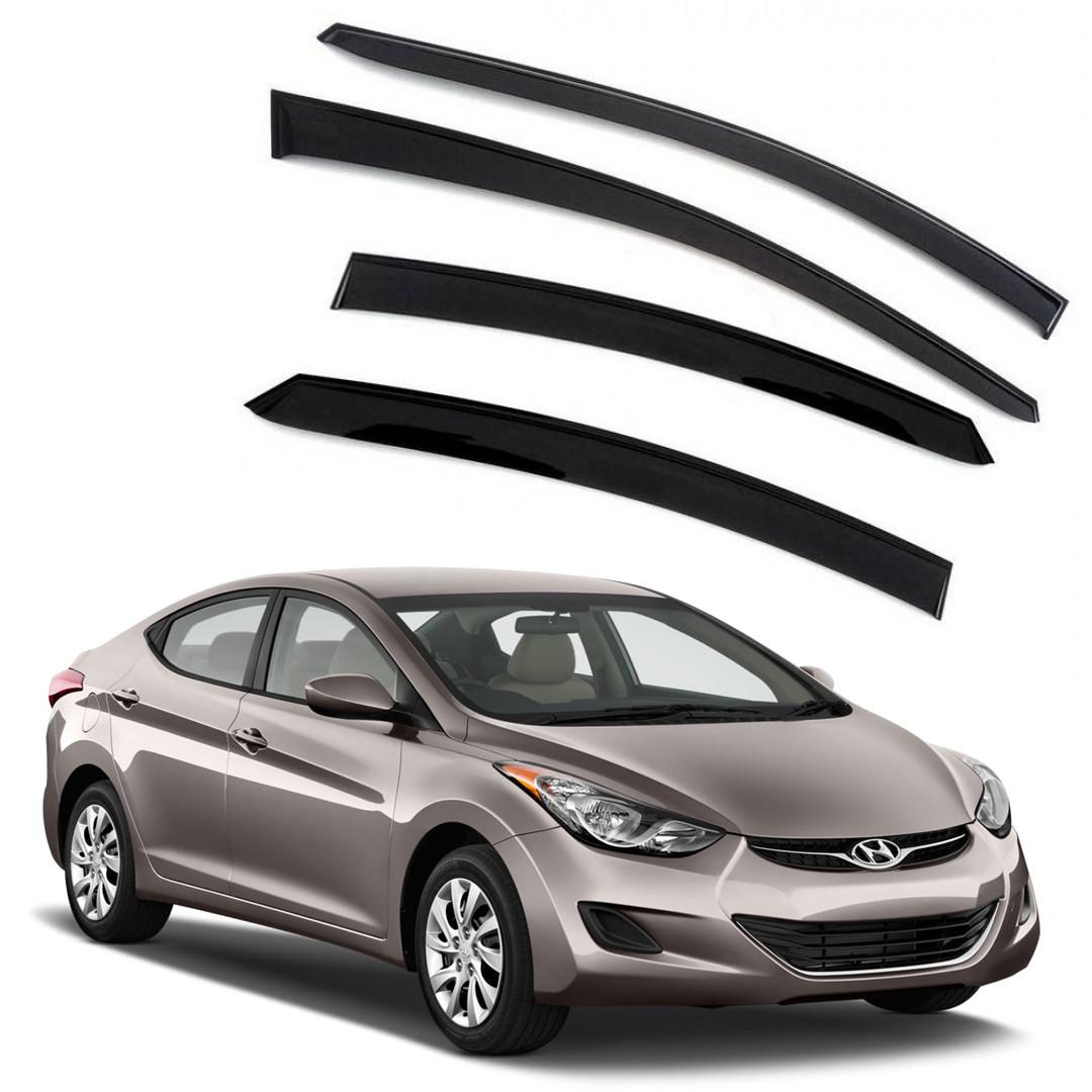 Ветровики дверей (дефлекторы окон) Hyundai Elantra (2010-2015)