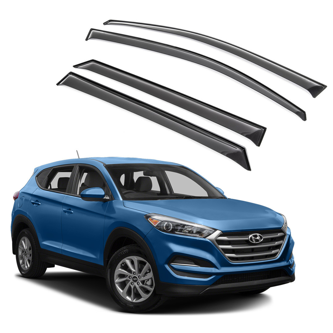 Ветровики дверей (дефлекторы окон) Hyundai Tucson TL (2015-)