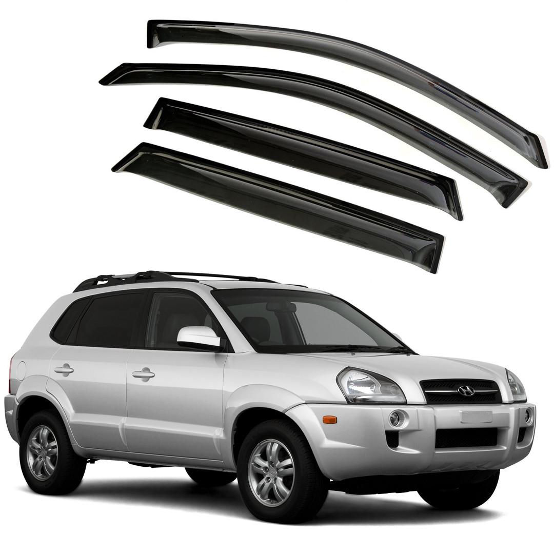 Ветровики дверей (дефлекторы окон) Hyundai Tucson (2004-2009)