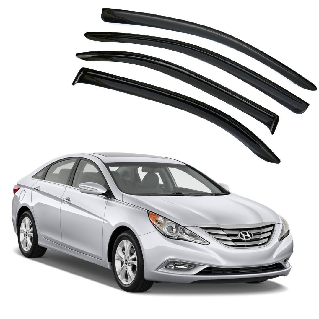 Ветровики дверей (дефлекторы окон) Hyundai Sonata IV (EF) (1998-2012)