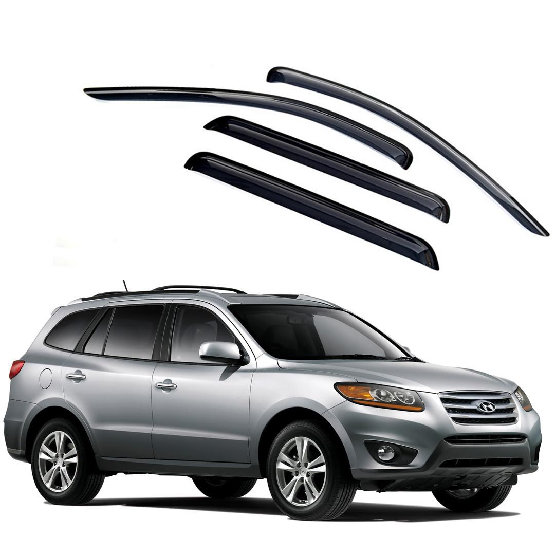 Ветровики дверей (дефлекторы окон) Hyundai Santa Fe (2006-2012)