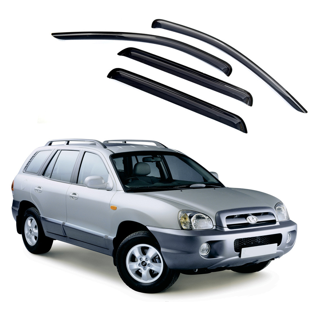 Ветровики дверей (дефлекторы окон) Hyundai Santa Fe (2000-2006)