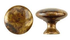 Ручка-кнопка, *Chippendale* D25мм, латунь пат., винт