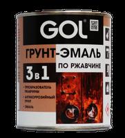 Грунт-эмаль 3в1 по ржавчине GOLexpert (0,8 кг), Красный