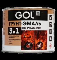 Грунт-эмаль 3в1 по ржавчине GOLexpert (1,8 кг), Черный