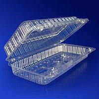 Kazakhstan Контейнер пластиковый 880мл PET прозрачный с нераздельной крышкой 19,0х8,5х5,5см 410 шт/кор ПР-К-19 А ПЭТ