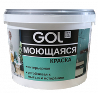 Краска акриловая для стен моющаяся GOL ВД-АК-1180 (3 кг)