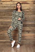 Женский осенний трикотажный спортивный большого размера спортивный костюм Angelina & Сompany 451 46р.