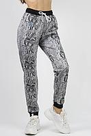 Женские осенние трикотажные серые спортивное брюки VLADOR 500424 черно-серый 40р.