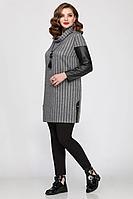 Женская осенняя трикотажная серая большого размера блуза Matini 4.1252 52р.