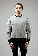 Мужской осенний трикотажный серый спортивный джемпер GuliGuli Бк-30 меланж 44р.