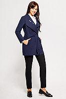 Женское осеннее из вискозы синее деловое пальто Swallow 070 48р.