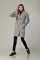 Женское осеннее драповое серое пальто Barbara Geratti by Elma 3471 44р.