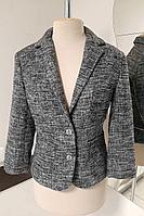 Женский осенний серый деловой жакет S. Veles 5-125 серый 42р.