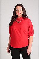 Женская летняя из вискозы красная деловая блуза Таир-Гранд 62303 красный 44р.