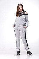Женский осенний трикотажный серый спортивный спортивный костюм MALI 760 серый 48р.