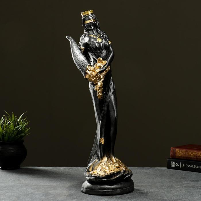 """Фигура """"Богиня Фортуна"""" серебро, 50см"""