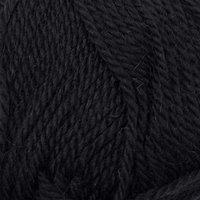 Пряжа 'Мериносовая' 50меринос.шерсть, 50 акрил 200м/100гр (02-Черный)