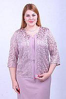 Женский осенний кружевной фиолетовый нарядный большого размера жакет Camelia 1776 1 50р.