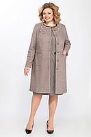 Женское осеннее шерстяное бежевое пальто Matini 2.867 беж 46р.
