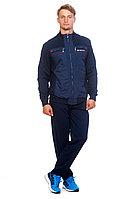 Мужской осенний трикотажный синий спортивный большого размера спортивный костюм FORMAT 21032/182 синий 52р.